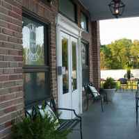 Front Porch and Entrance to the hotel