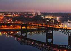 Florence, Alabama - Tennessee River at Night