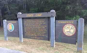 100 miles to the Alabama - Tennessee State Line - Natchez Trace Parkway