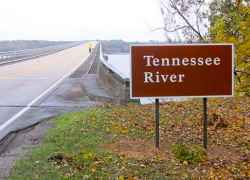 Crossing the Tennessee River in Alabama.