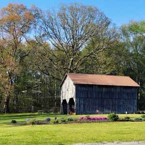 Barn and Picnic Tables