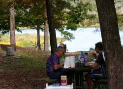 Picnic at the River Bend site in Mississippi.