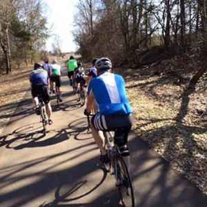 Cyclists on the Tanglefoot Trail